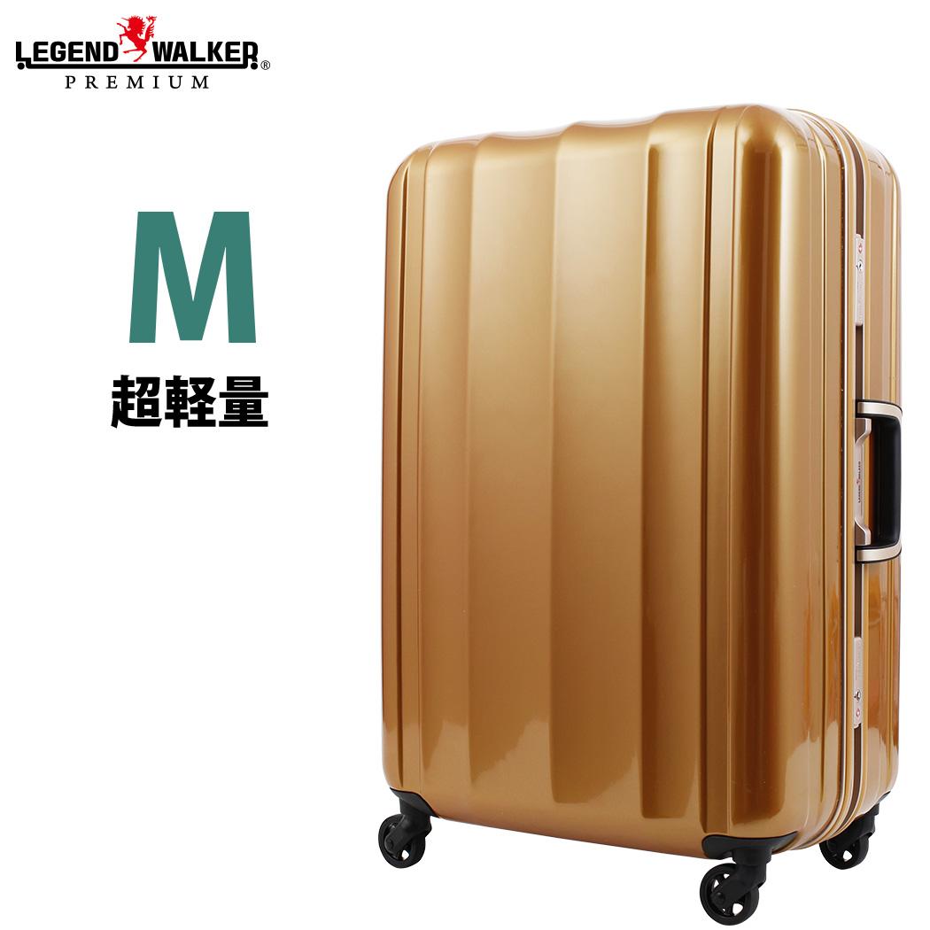 スーツケース(LEGEND WALKER:レジェンドウォーカー)Mサイズ(5泊 6泊 7泊)フレーム(6014-58)