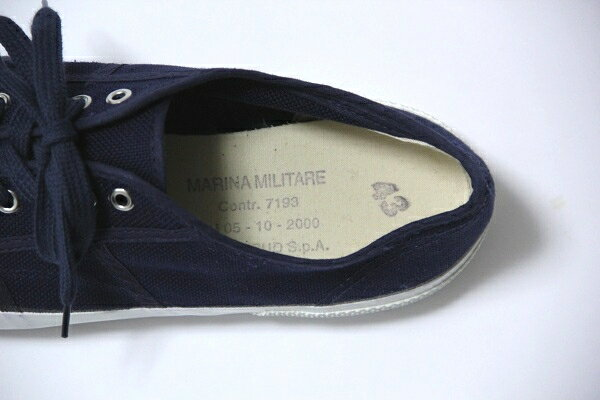 Italian navy deck sneakers / shoes / Italy forces / men / forces / military / dead stock