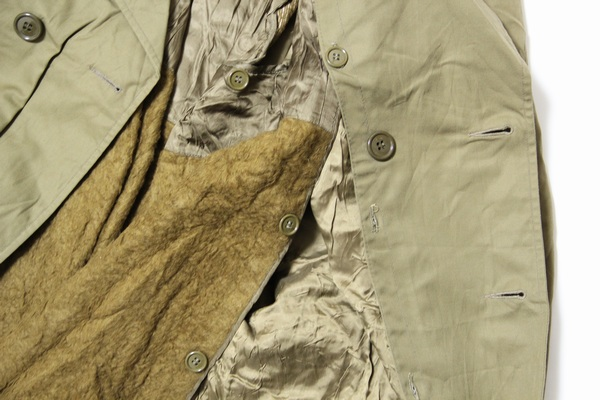 Italian military trench coat / men / forces / dead stock