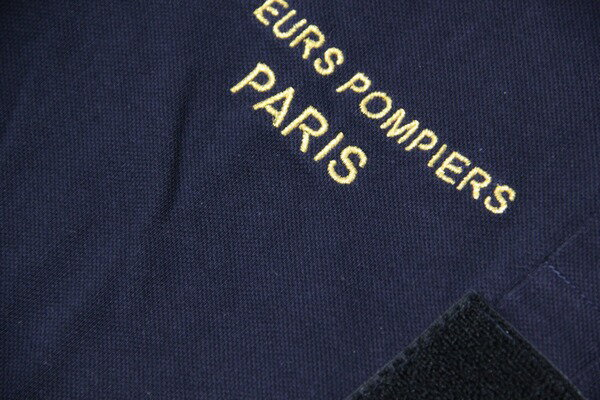 French Paris Fireman polo / polo shirt long sleeves / fireman dead stock / men