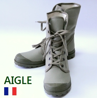 AIGLE French military military boots rare / デッドストックエーグルエイグル / men Lady's / forces タクティカルスニーカー