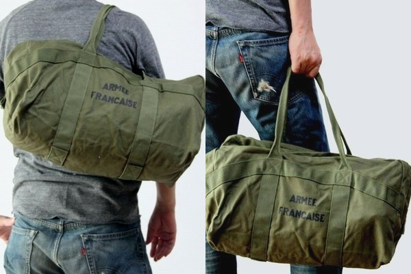 Military Of France Army Parachute Bag Was Designed Based On Topped With A Sy Cotton Fabric Armee Francaise Logo Print
