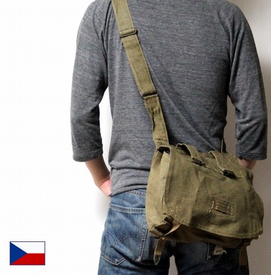 Czech Military Bread Shoulder Bag New Article Dead Stock Forces Town Outdoor Disaster Prevention