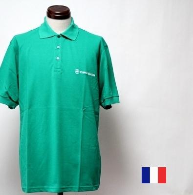 Priceダウン\2900→ メンズM~LL フランス テレコム ポロシャツ デッドストック pd 春の新作 グリーン 半袖 買物 メール便