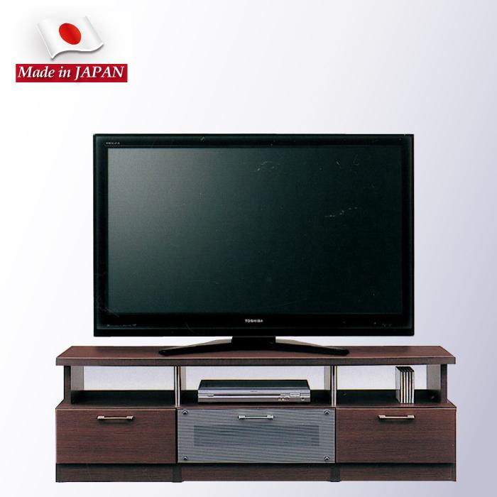 幅150cm テレビボード テレビ台 TVボード  AVボード AVチェスト リビングボード ローボード AV収納 引き出し収納 リビング収納 引き出し スライドレール付き ブラウン