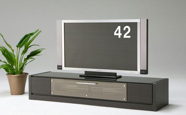 マイル-160 幅157cm ~52型大型テレビ対応♪モダンなテレビボードAVローボードテレビ台TV台TV台ボード 引き出し付き 天板ガラス張り ブラック黒