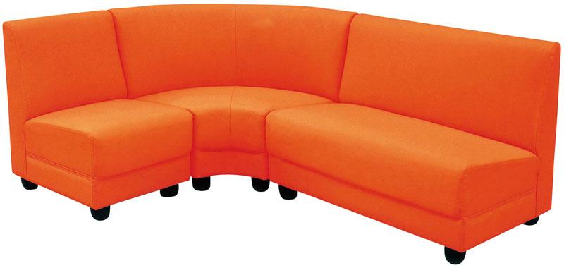 ソファセット ソファーセット 3点 並べ替え自由 コンパクト コーナーソファー 3点セット 2人掛けソファー+1人掛けソファー+コーナー ソファーセット 2Pソファ 1Pソファ ラブソファ シングルソファ お手入れ簡単 PVC張り オレンジ