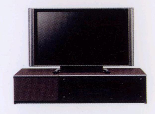 ~40型テレビ対応 幅120cmテレビ台 安全 ゆっくり開くスローダウンステー付きフラップ扉・5mm厚強化ガラス使用・頑丈な箱組み引き出しフルオープンスライドレール仕様 北欧風モダンデザインAVローボードテレビボードTV台TVボード ダークブラウン
