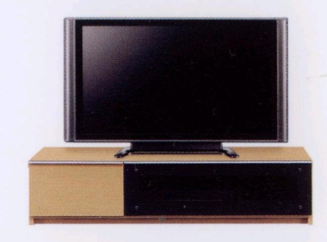 ~40型テレビ対応 幅120cmテレビ台 安全 ゆっくり開くスローダウンステー付きフラップ扉・5mm厚強化ガラス使用・頑丈な箱組み引き出しフルオープンスライドレール仕様 北欧風モダンデザインAVローボードテレビボードTV台TVボード ナチュラル