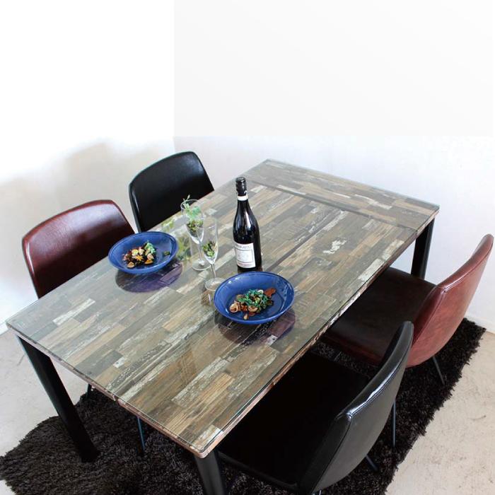 ダイニングセット ダイニング5点セットダイニング 5点 幅130cm ダイニングテーブルセット チェアセット食卓セット 食卓5点セット 長方形テーブル チェア カジュアル ヴィンテージ風 レトロ調 ブラウン ブラック