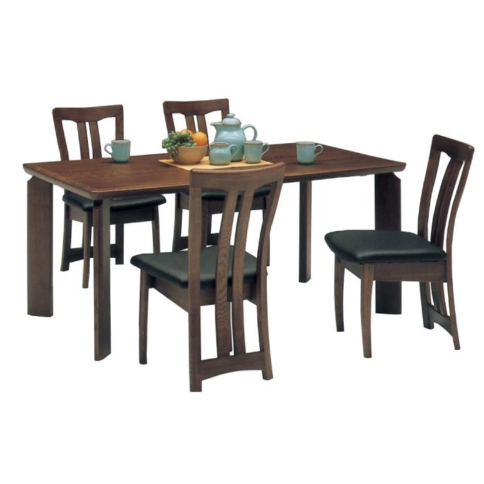 天然木タモ使用北欧モダンテイスト高級ダイニング5点セット(テーブル+肘無チェア4脚)-オアシス- 食卓5点セットダイニングセット食卓セット4人掛け テーブル幅160cm北欧風ダイニングテーブル+肘無しチェアー