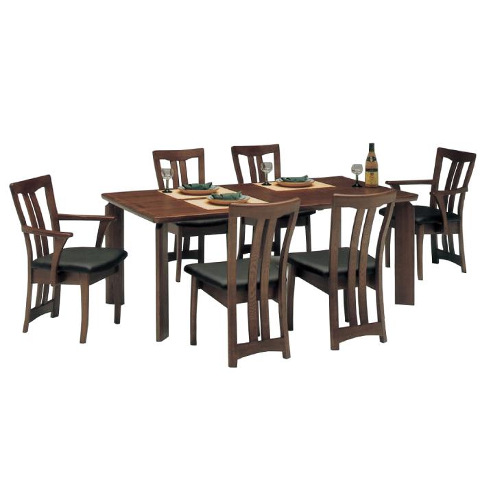 天然木タモ使用北欧モダンテイスト高級ダイニング7点セット(テーブル+肘付チェア2脚+肘無チェア4脚)-オアシス- 食卓7点セットダイニングセット食卓セット6人掛け 北欧風ダイニングテーブル+肘付きチェアー+肘無しチェアー, イズミグン:b57397a4 --- novoinst.ro