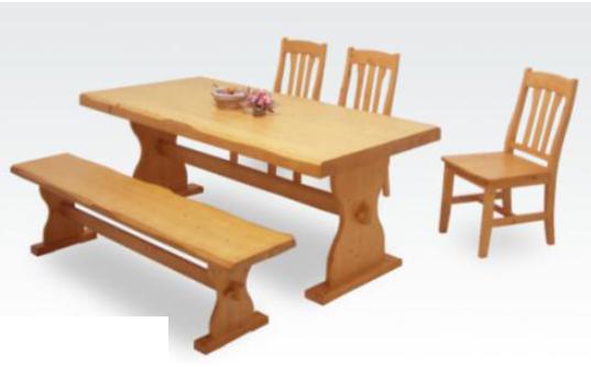 ダイニング5点セット 天板浮造り仕様 北欧パイン材使用 人気のベンチチェアー+幅180cmダイニングテーブル+ダイニングチェアー×3脚セット ダイニングセット食卓セット食卓4点セットダイニングテーブルセット6人掛け用6人用 ナチュラル