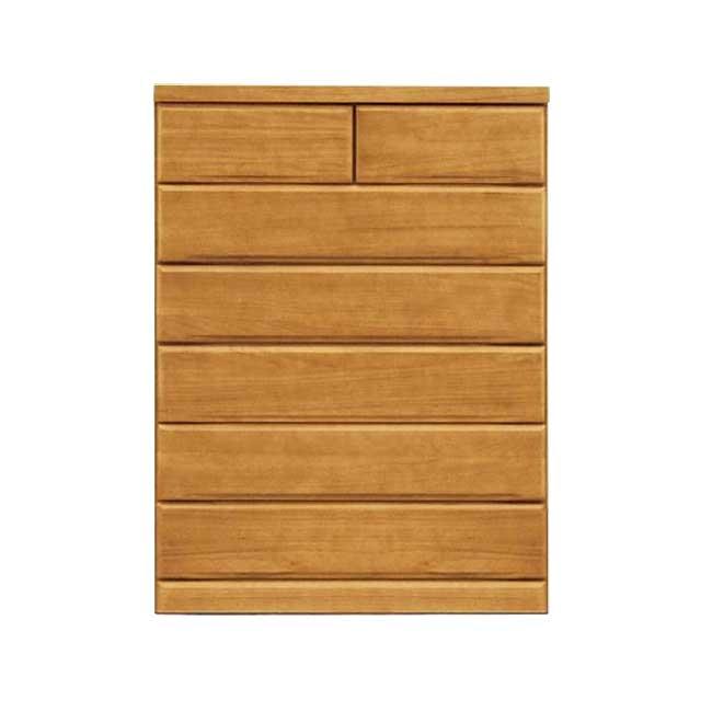 幅80cmハイチェスト 天然木桐材使用 洋服タンス箪笥衣類収納リビングチェスト 引き出し入れ替え可能 ナチュラル