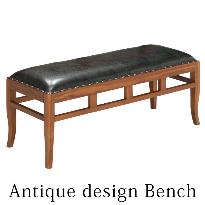 ベンチチェアー ダイニングベンチ 幅120cm アカシア無垢材 アンティークデザイン 食卓椅子 木製椅子 リビングチェアー ロビーチェアー ダイニングチェアー おしゃれ 木製フレーム レトロモダン 背もたれなし ブリティッシュデザイン レトロデザイン ブラウン ブラック