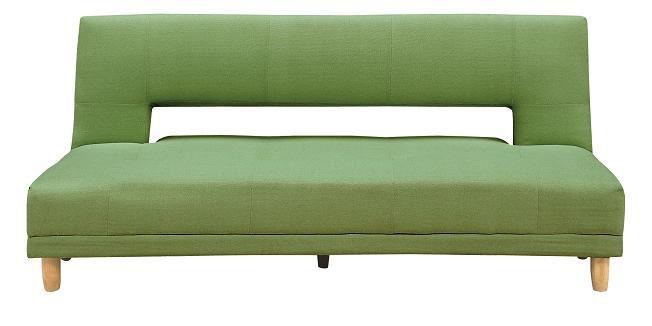 ソファベッド ファブリック張り 幅184cm リクライニング ソファーベッド ワイド 3人掛けソファ 3Pソファ トリプルソファ リビングソファ ファブリックソファ 布張りソファ 布張りソファ リーフグリーン 黄緑 ライトグリーン