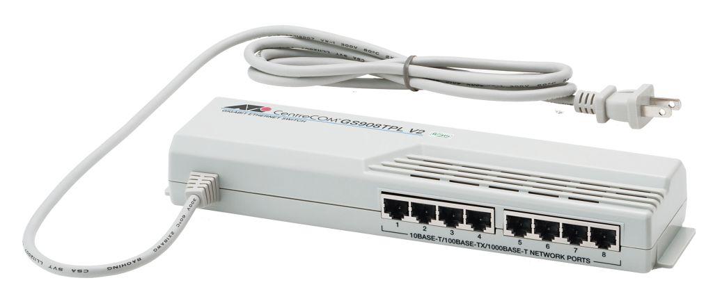【新品/取寄品/代引不可】CentreCOM GS908TPL V2-Z7 [10/100/1000BASE-Tx8(タップ型)(デリバリースタンダード保守7年付)] 0590RZ7