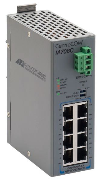 0808RZ7 【新品/取寄品/代引不可】CentreCOM [産業用スイッチ、10/100BASE-TXx8(デリバリースタンダード保守7年付)] IA708C-Z7