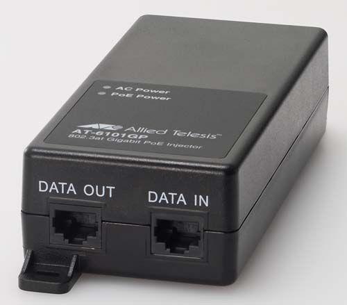 【新品/取寄品/代引不可】AT-6101GP-Z7 [IEEE802.3at PoE Plus対応インジェクター、10/100/1000BASE-Tx2(PoE-OUTx1、DATA-INx1)(デリバリースタンダード保守7年付)] 1317RZ7