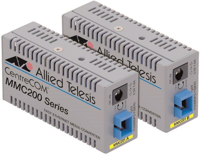 【新品/取寄品/代引不可】CentreCOM MMC201B-Z1 [100BASE-TXx1、100BASE-FX SMF1心(SC)x1(デリバリースタンダード保守1年付)] 0021RZ1