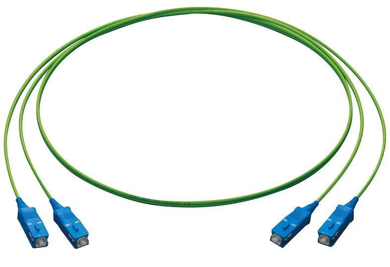 【新品/取寄品/代引不可】PFC-GI50-OM2-SC-1 [マルチモード(50/125μm) OM2 屋内用光コード 2心 メガネ型 SCコネクター1m] 4012R
