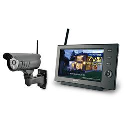 【新品/取寄品】ワイヤレスカメラモニターセット CMS-7110