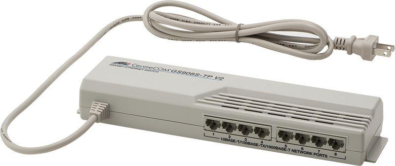 【新品/取寄品/代引不可】CentreCOM GS908S-TP V2 [10/100/1000BASE-Tx8(タップ型)] 1921R