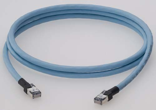 【新品/取寄品/代引不可】ScTP6A-S-60B [シールド付カテゴリー6Aケーブル、単線、60m、ブルー] 3749R