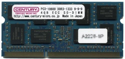 【新品/取寄品/代引不可】産機用 PC3-10600/DDR3-1333 4GB SODIMM ECC 1.5v 日本製 CD4G-SOD3UE1333