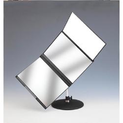 【新品/在庫あり】東京セイル 卓上型スタンド付三面鏡 セイルミラー MX-360ZS (黒)