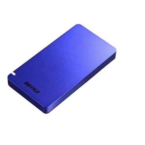 【新品/取寄品/代引不可】USB3.1(Gen2)ポータブルSSD 960GB ブルー SSD-PGM960U3-L