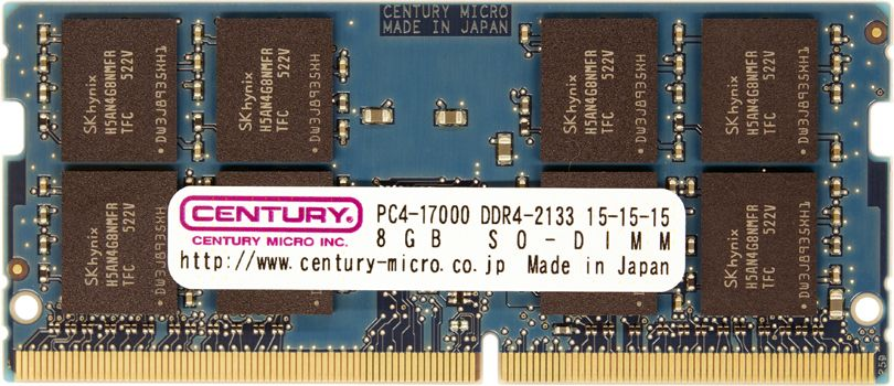 【新品/取寄品/代引不可】ノートPC用 PC4-17000/DDR4-2133 8GB 260pin SO-DIMM 日本製 CD8G-SOD4U2133
