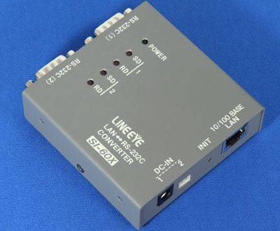 【新品/取寄品/代引不可】インターフェースコンバータ LANRS-232C x2ポート ワイド入力ACアダプタータイプ SI-60X-E