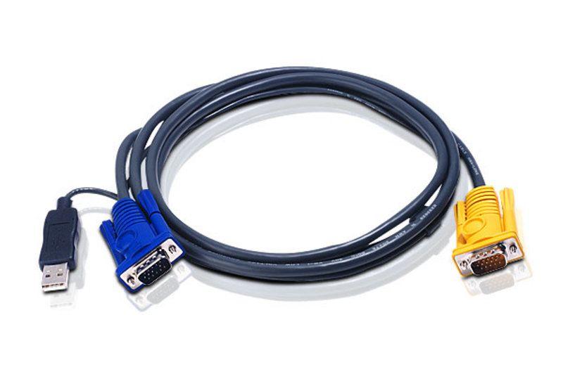 【新品/取寄品/代引不可】USBコンソールエクステンションケーブル6m 切替機側コネクタSPDB15Pin 2L-5206UP/ATEN
