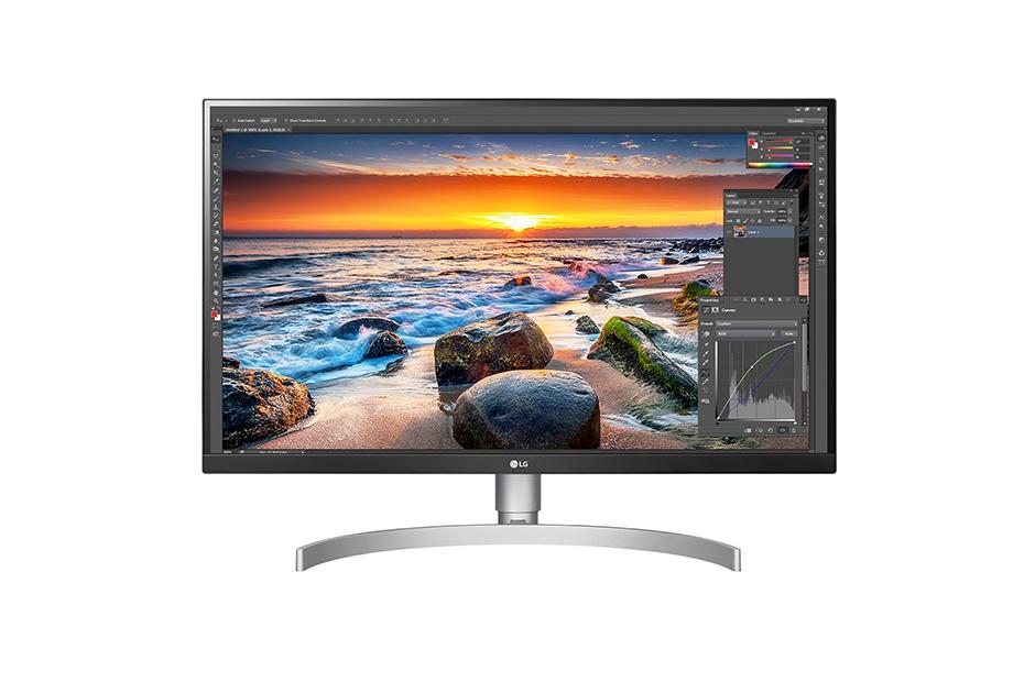 【新品/取寄品/代引不可】27型4K液晶ディスプレイ(VESA DisplayHDR 400/フレームレス/IPS/USB-C/ブルーライト低減/フリッカーセーフ) 27UL850-W