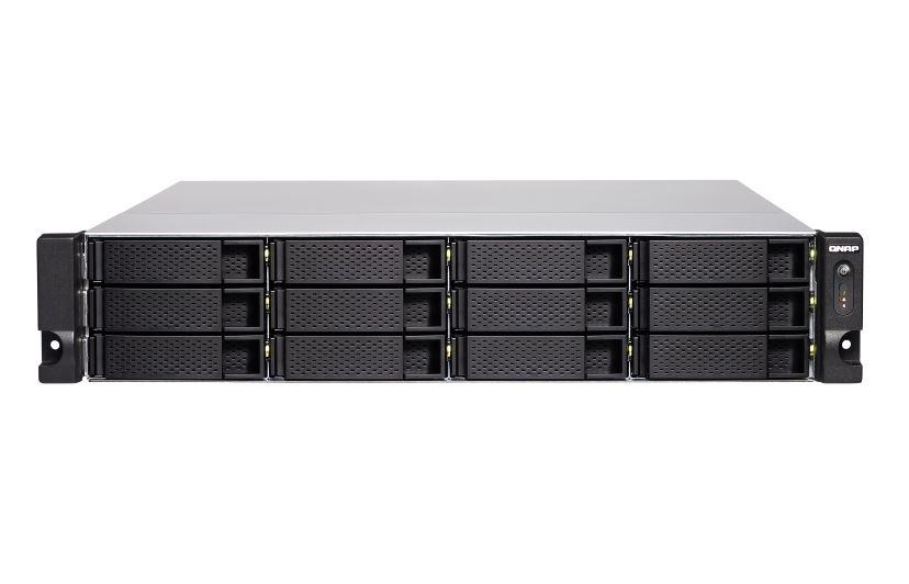 【新品/取寄品/代引不可】TVS-1272XU-RP-i3-4G 120TB搭載モデル 2Uラック型 NAS ニアラインHDD10TBx12 TVS-1272XU-RP/120TB