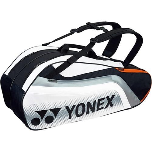 【通販限定/新品/取寄品/代引不可】ヨネックス ラケットバック6 リュック付 テニス6本用 ブラック*ホワイト BAG1812R 245 1コ入