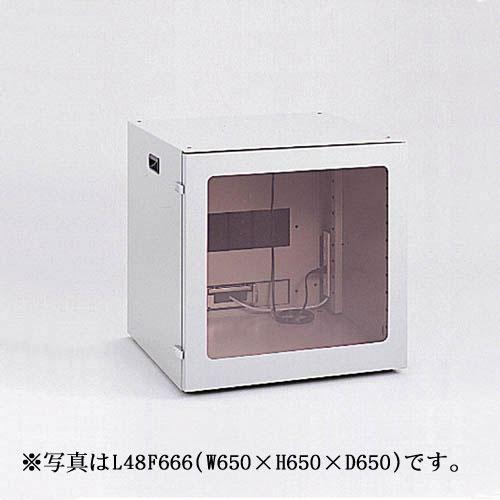 【新品/取寄品/代引不可】FA防塵パソコンロッカー 幅650mm L48F664