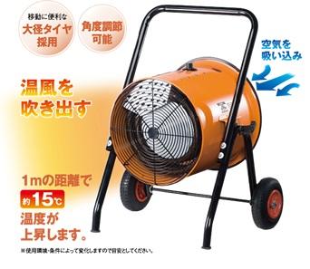 【業務用のため個人様のご注文はお断りさせて頂きます】【新品/取寄品/代引不可】ナカトミ 電気ファンヒーター(循環型温風送風機) ISH-10KT  ※三相200V 電源コードなし 設置工事必要 【沖縄・離島配送不可】