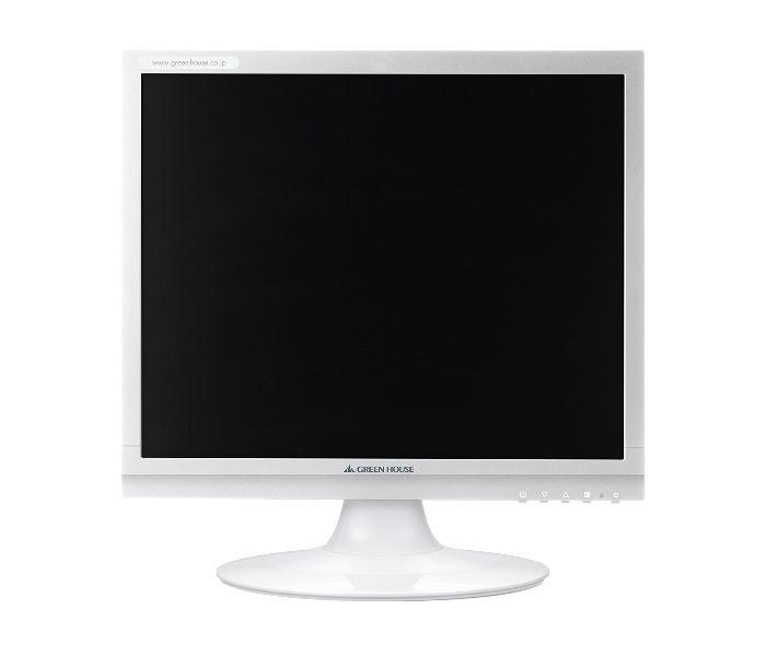 【新品/取寄品/代引不可】17型カラーLED液晶ディスプレイ VGA/DVI ホワイト GH-LCS18C-WH