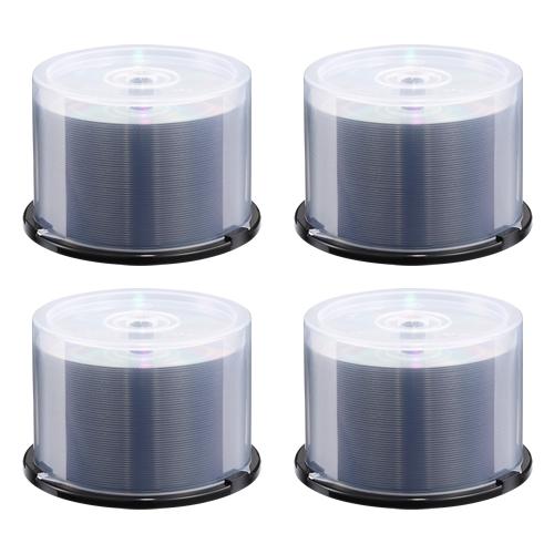 【新品/取寄品/代引不可】CD-R 48倍速 700MB 光沢ホワイトワイドタイプ 200枚入り EDCD50RSAA