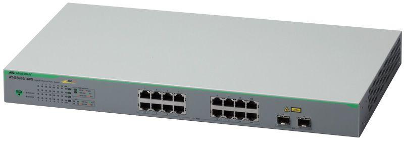 【新品/取寄品/代引不可】AT-GS950/16PS [10/100/1000BASE-Tx14(PoE-OUT)、10/100/1000BASE-Tx2(PoE-OUT)(コンボ)、SFPスロットx2(コンボ)] 3274R