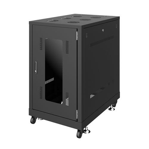 【新品/取寄品/代引不可】19インチサーバーラック(18U) W600xD900xH1020mm ブラック CP-SVN1890BKN