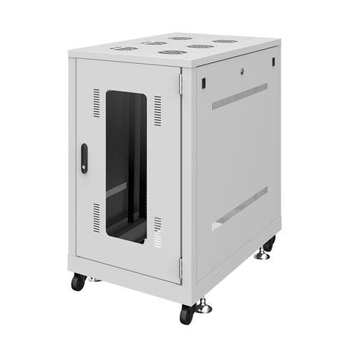 【新品/取寄品/代引不可】19インチサーバーラック(18U) W600xD900xH1020mm ライトグレー CP-SVN1890GYN