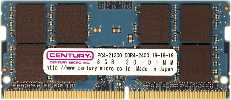 【新品/取寄品/代引不可】NT用 PC4-21300 DDR4-2666 288pin SODIMM 2RK 1.2v 8GB CD8G-SOD4U2666
