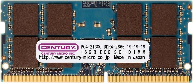 【新品/取寄品/代引不可】NT用 PC4-21300 DDR4-2666 288pin SODIMM 1.2v 16GB CD16G-SOD4U2666