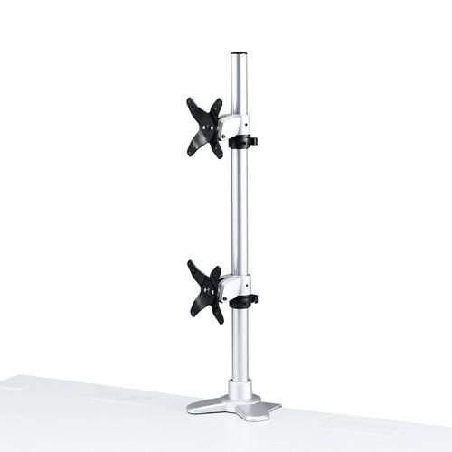 【新品/取寄品/代引不可】水平垂直液晶モニターアーム(上下2面) CR-LA1009N