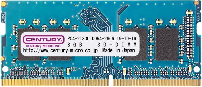 【新品/取寄品/代引不可】NT用 PC4-21300 DDR4-2666 288pin SODIMM 1RK 1.2v 16GB CK8GX2-SOD4U2666H