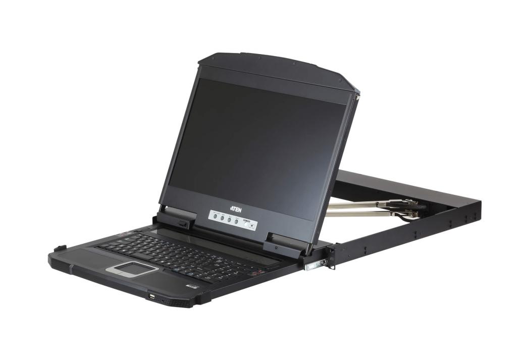 【新品/取寄品/代引不可】USB/HDMI/DVI/VGA対応 デュアルスライドLCDコンソールドロワー ロングレール CL3800NXJJL/ATEN, Hanki shop 5aa74c31