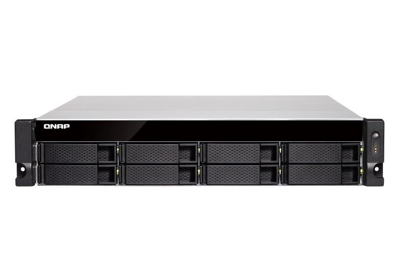【新品/取寄品/代引不可】TS-883XU-RP-E2124-8G 80TB搭載モデル 2Uラック型 NAS ニアラインHDD 10TBx8個 TS-883XU-RP/80TB